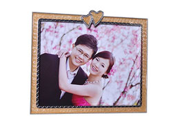 MDF Photo Frame Shiny tin, epoxy pink, acrylic