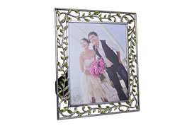 MDF Photo Frame Shiny tin & Manual Painting