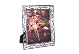 MDF Photo Frame Shiny tin & Pink Acrylic